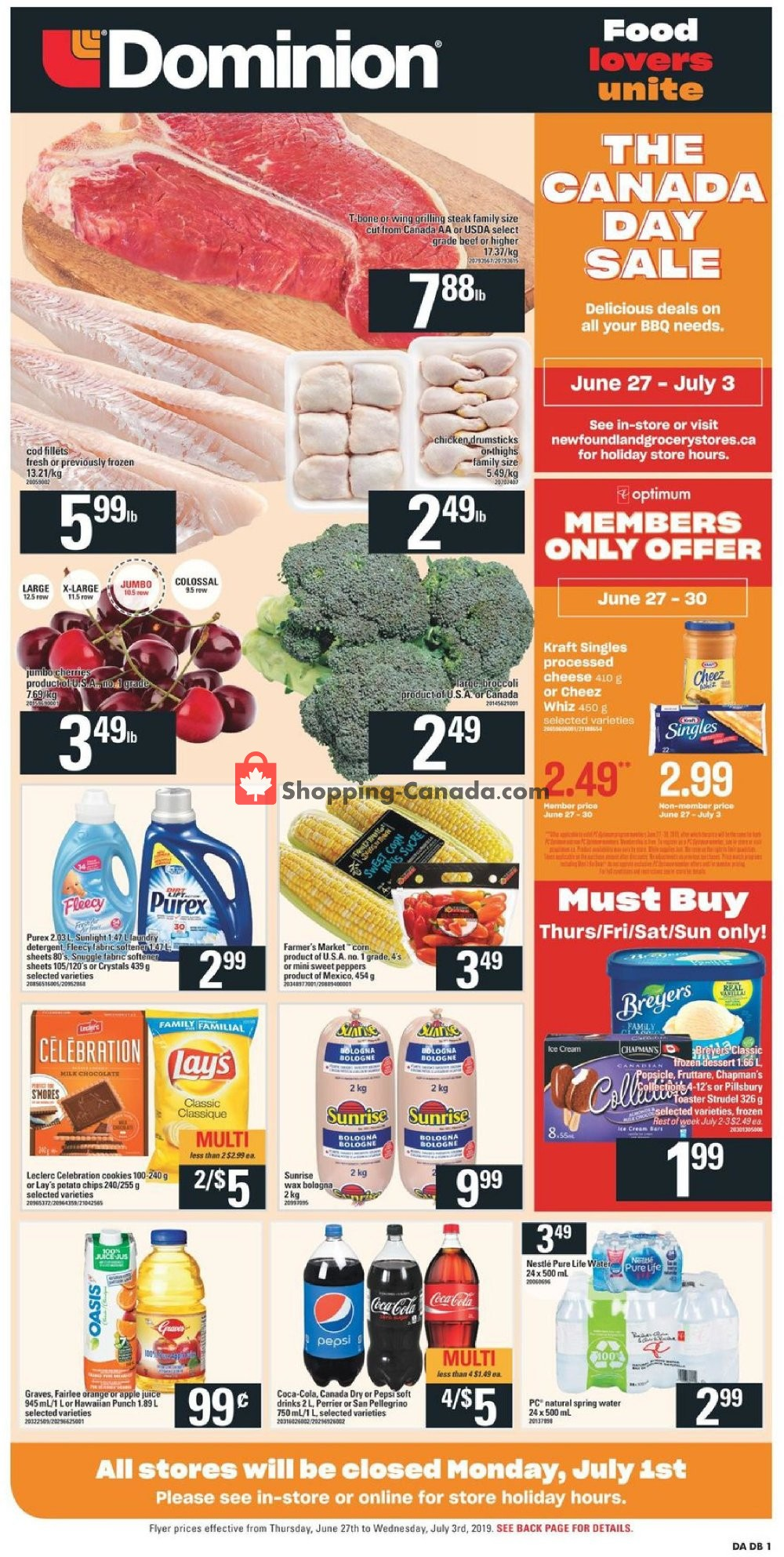 Flyer Dominion Canada - from Thursday June 27, 2019 to Wednesday July 3, 2019