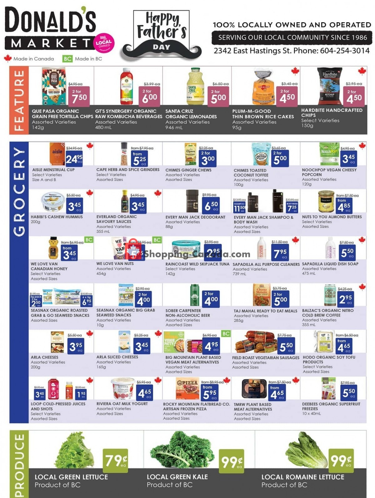 Flyer Donald's Market Canada - from Thursday June 3, 2021 to Wednesday June 16, 2021