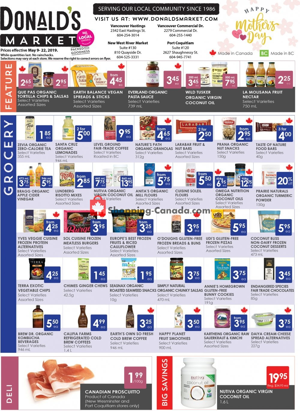 Flyer Donald's Market Canada - from Thursday May 9, 2019 to Wednesday May 22, 2019