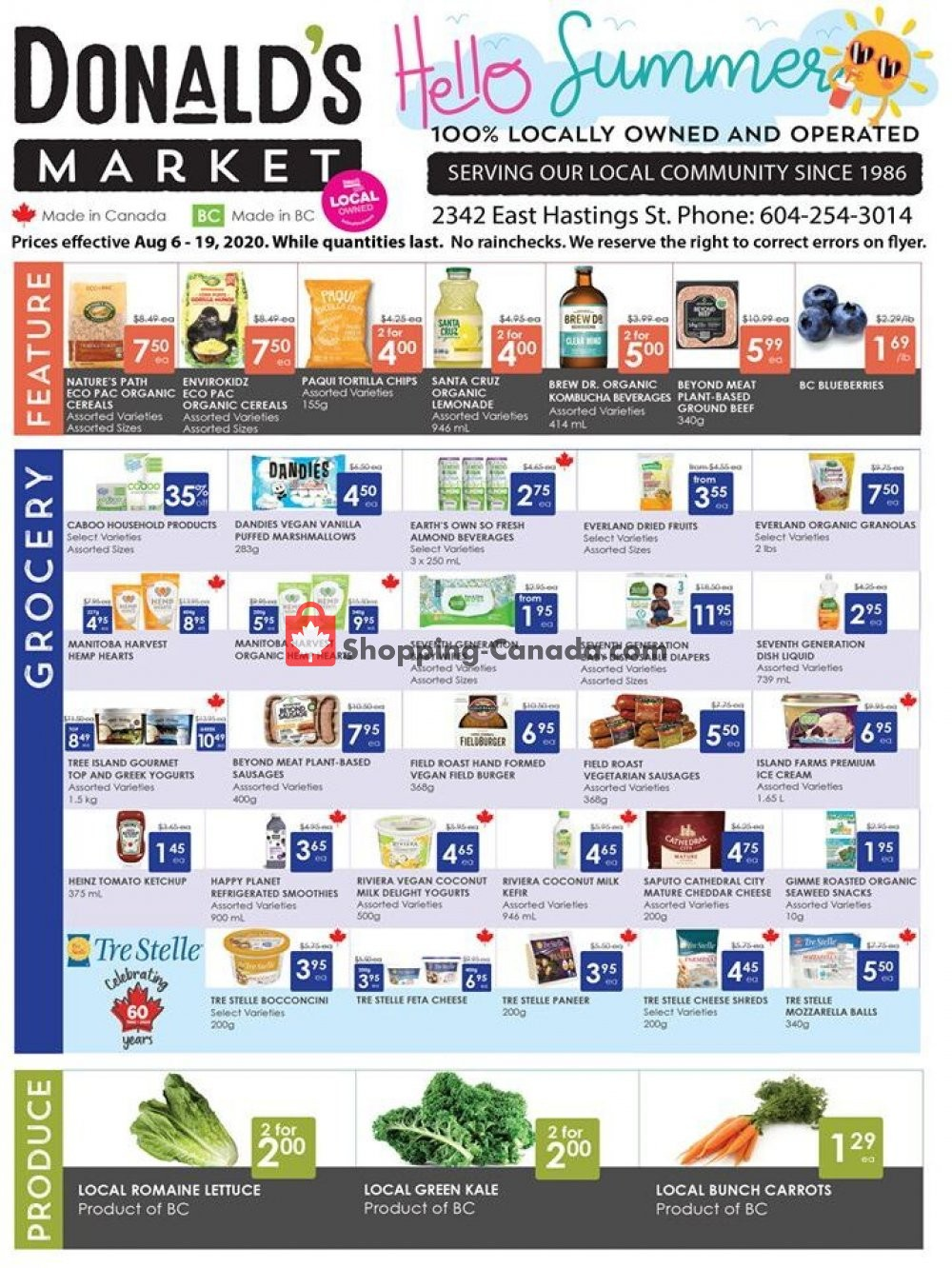 Flyer Donald's Market Canada - from Thursday August 6, 2020 to Wednesday August 19, 2020