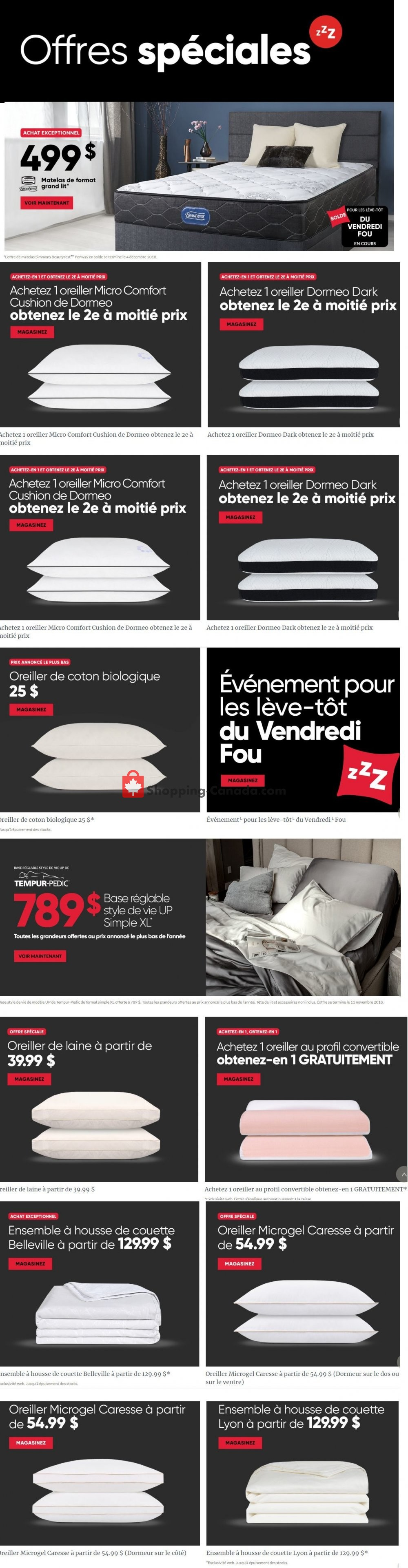 Flyer Dormez-vous? Canada - from Thursday November 1, 2018 to Tuesday December 4, 2018