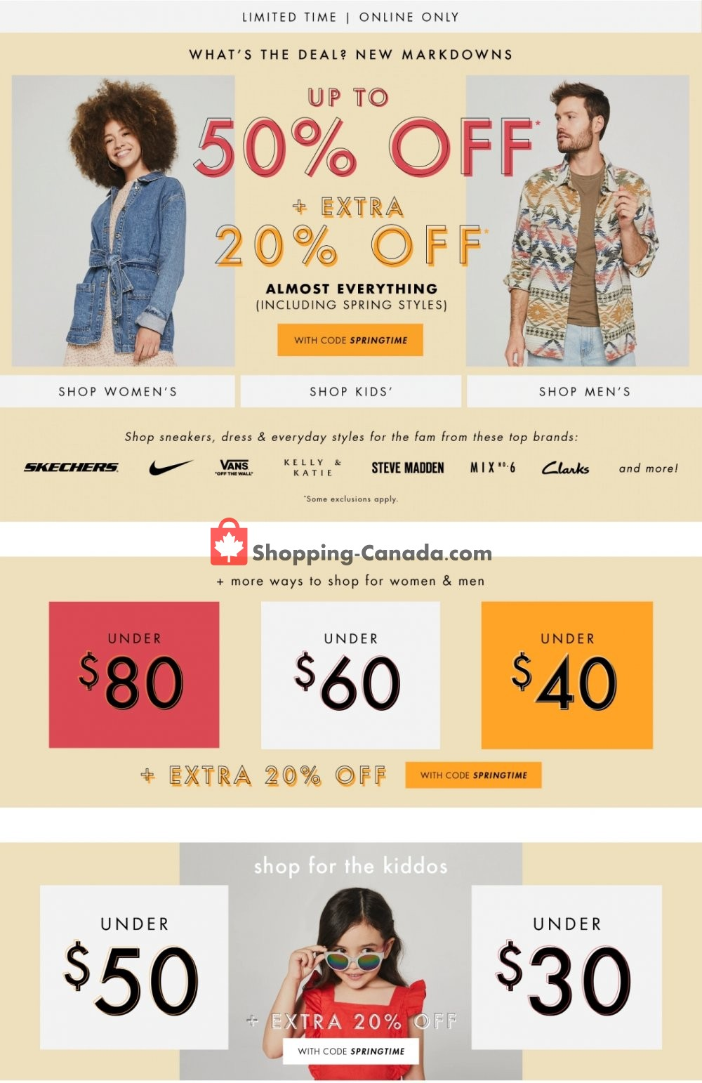 Flyer DSW Designer Shoe Warehouse Canada - from Thursday April 23, 2020 to Wednesday April 29, 2020