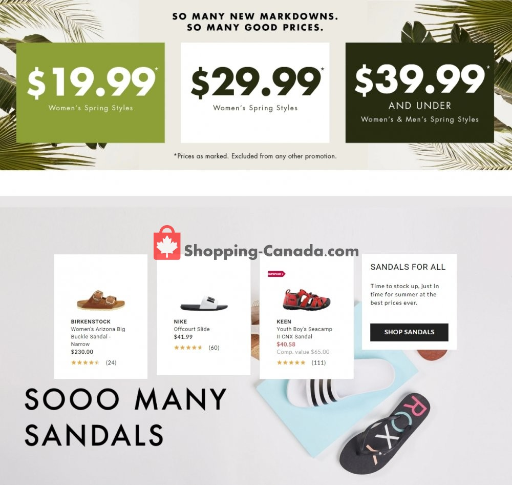 Flyer DSW Designer Shoe Warehouse Canada - from Wednesday June 3, 2020 to Tuesday June 9, 2020