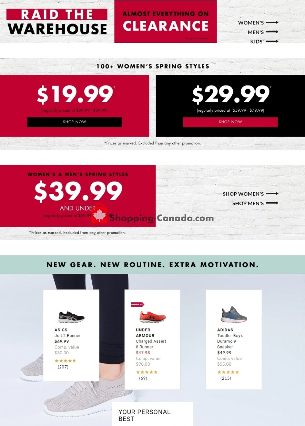 Flyer DSW Designer Shoe Warehouse Canada - from Wednesday May 27, 2020 to Tuesday June 2, 2020