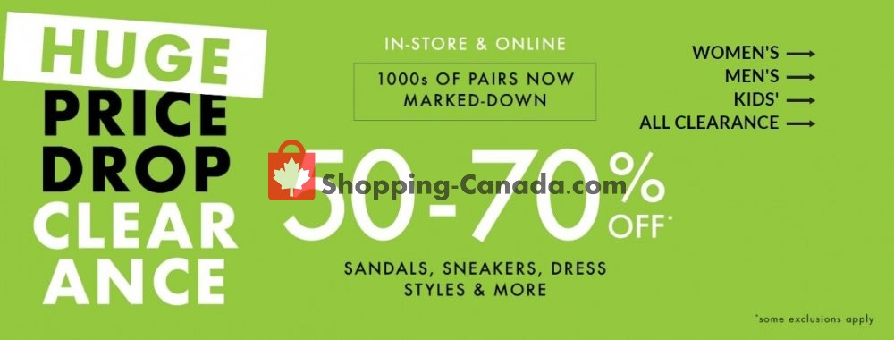 Flyer DSW Designer Shoe Warehouse Canada - from Wednesday July 29, 2020 to Tuesday August 11, 2020