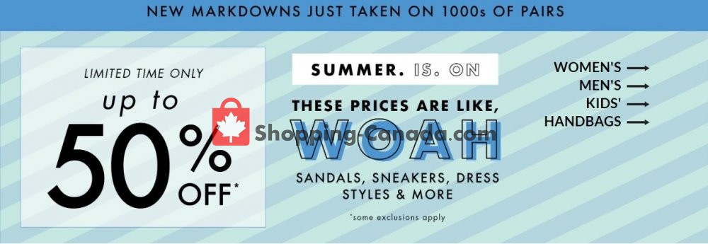 Flyer DSW Designer Shoe Warehouse Canada - from Wednesday July 8, 2020 to Tuesday July 14, 2020