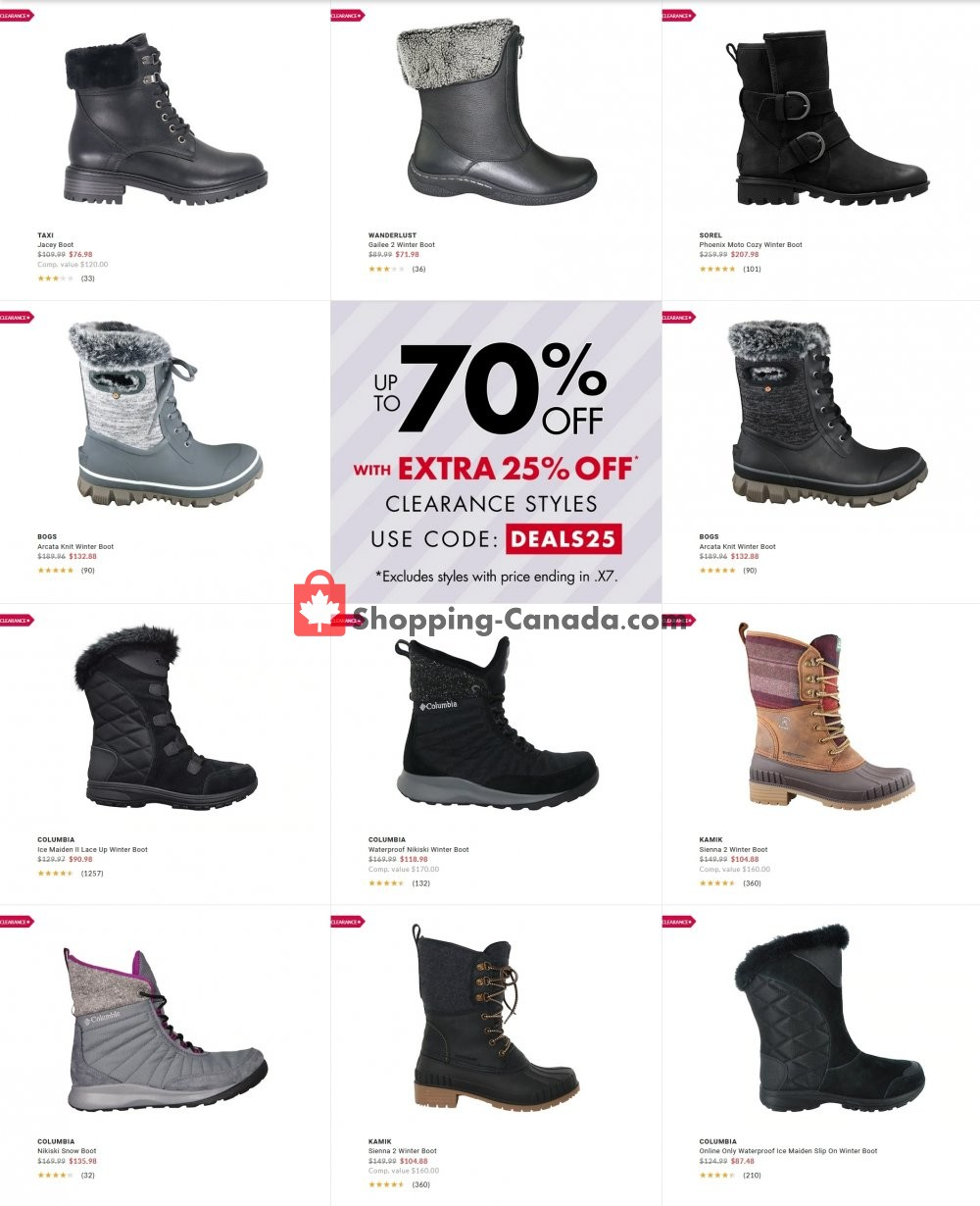 Flyer DSW Designer Shoe Warehouse Canada - from Wednesday January 20, 2021 to Tuesday January 26, 2021