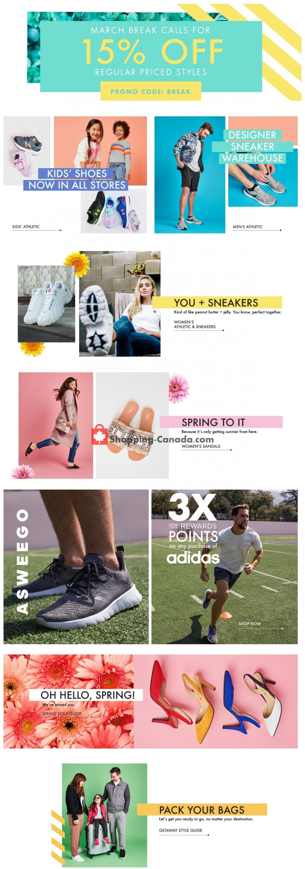 Flyer DSW Designer Shoe Warehouse Canada - from Sunday March 10, 2019 to Saturday March 16, 2019
