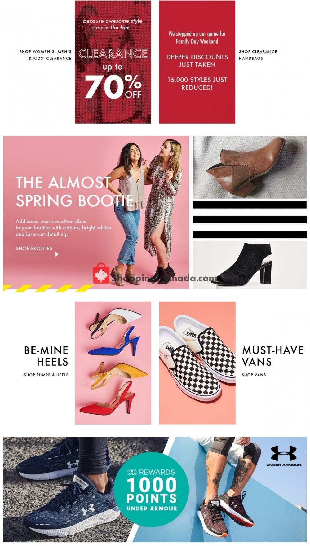 Flyer DSW Designer Shoe Warehouse Canada - from Friday February 15, 2019 to Thursday February 21, 2019
