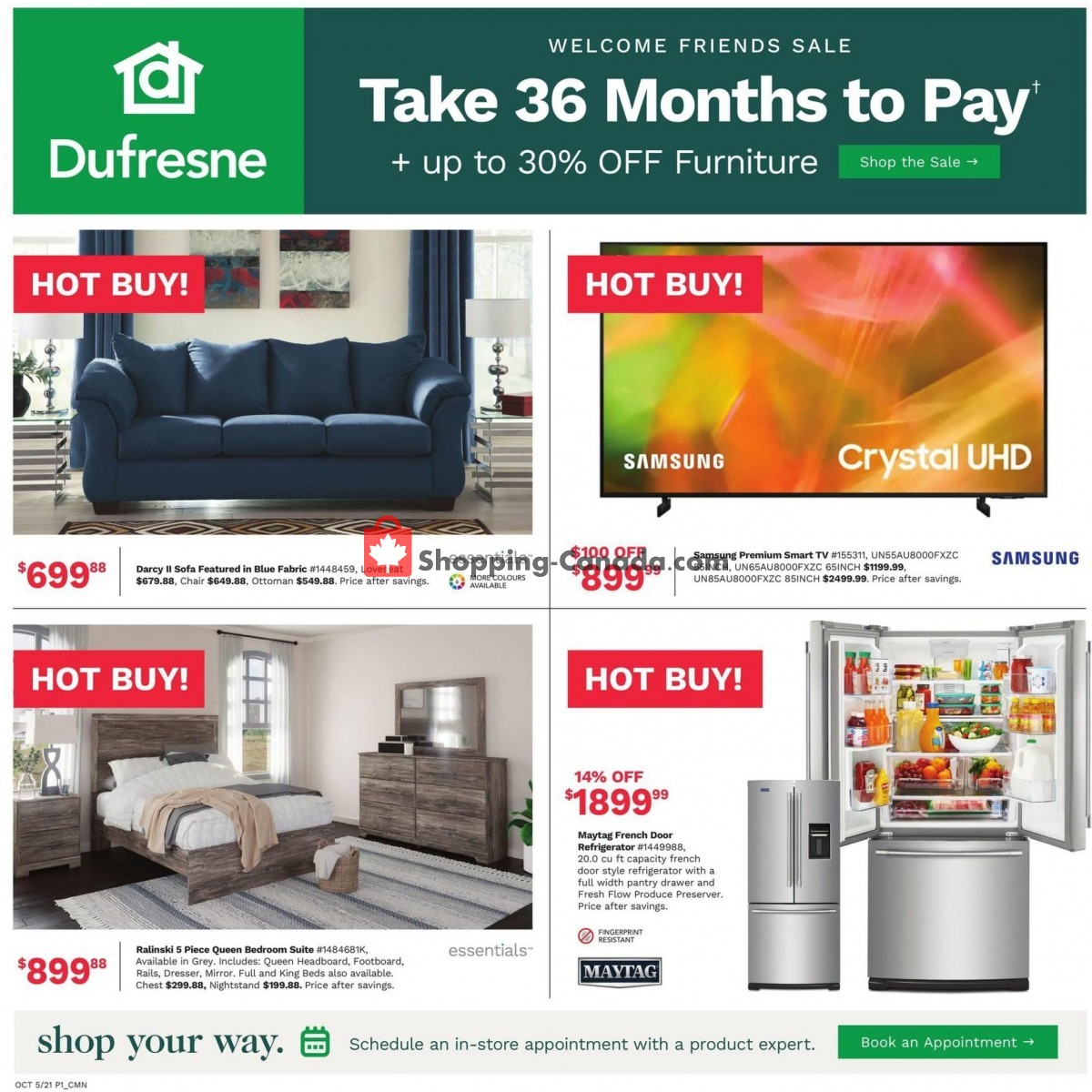 Flyer Dufresne Canada - from Tuesday October 5, 2021 to Tuesday October 12, 2021