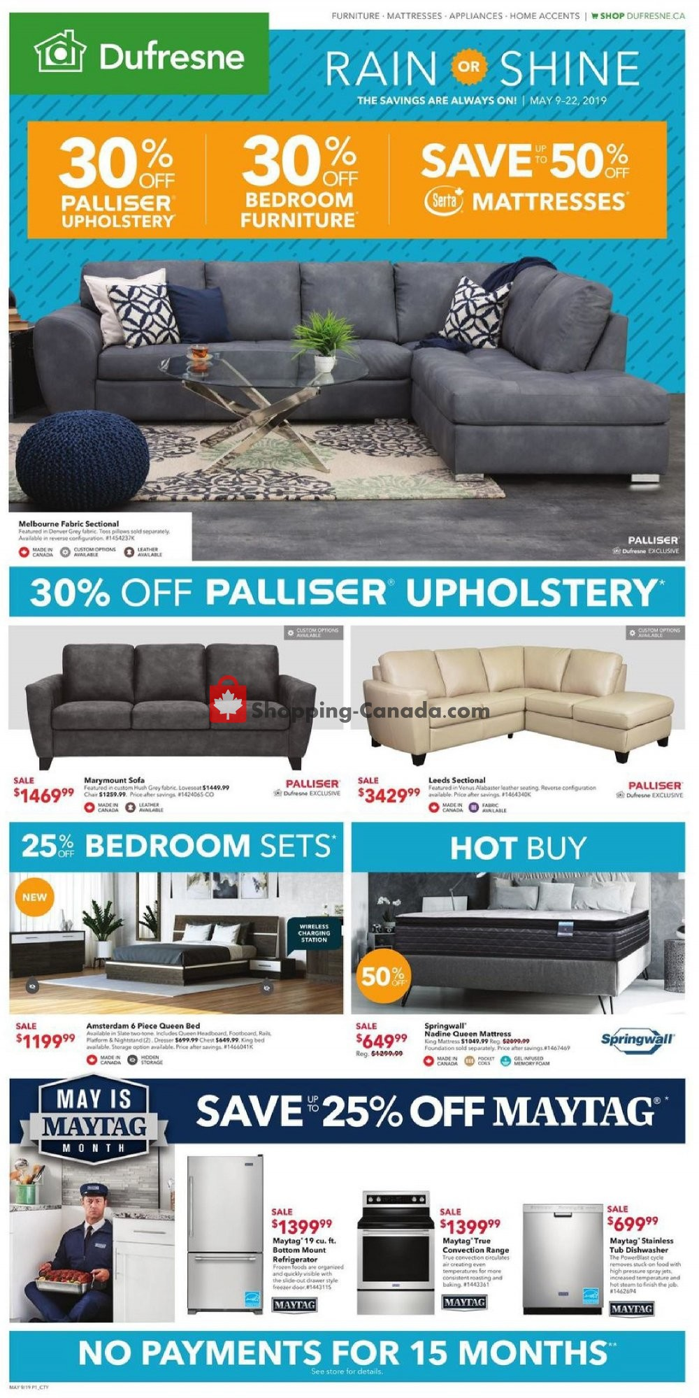 Flyer Dufresne Canada - from Thursday May 9, 2019 to Wednesday May 22, 2019