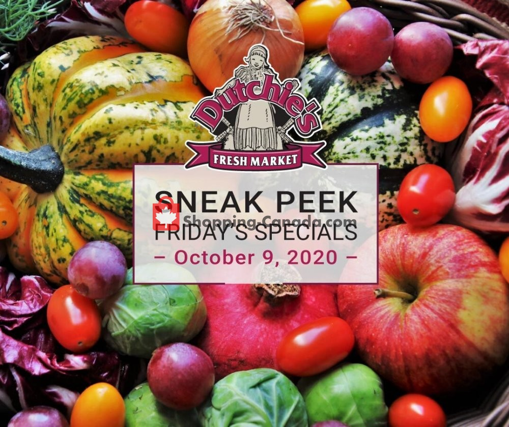 Flyer Dutchie's Fresh Market Canada - from Friday October 9, 2020 to Friday October 9, 2020
