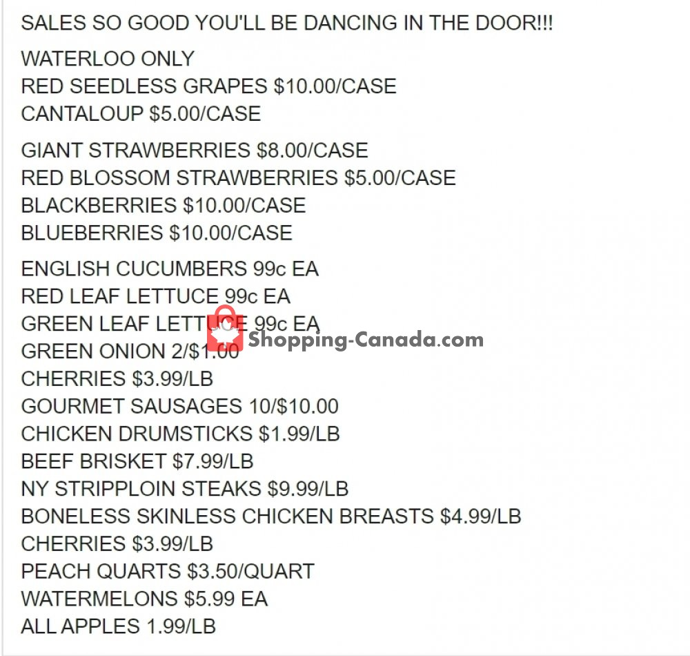 Flyer Dutchie's Fresh Market Canada - from Sunday May 24, 2020 to Sunday May 24, 2020