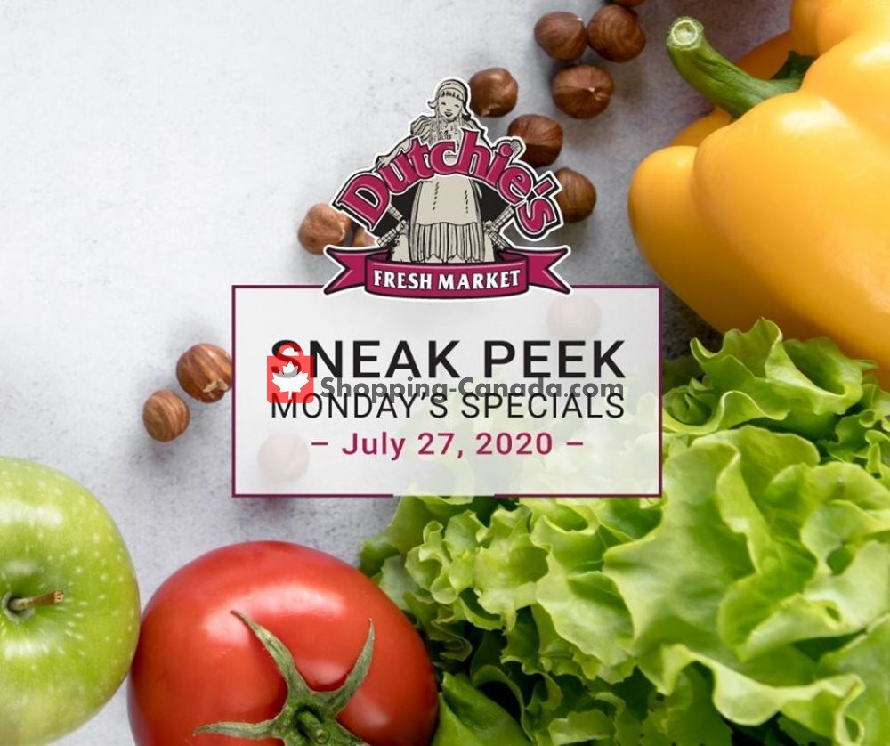 Flyer Dutchie's Fresh Market Canada - from Monday July 27, 2020 to Monday July 27, 2020