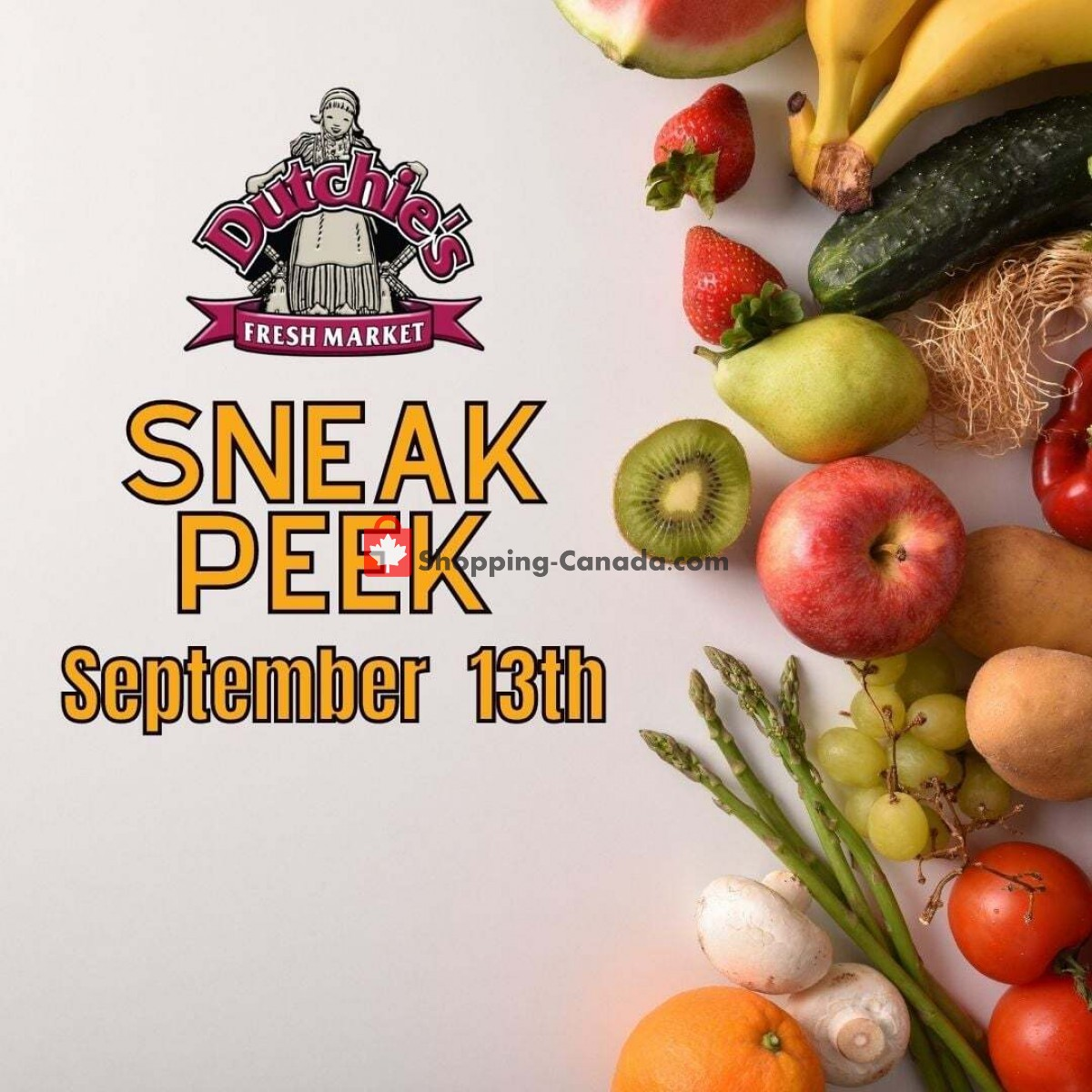 Flyer Dutchie's Fresh Market Canada - from Monday September 13, 2021 to Monday September 13, 2021