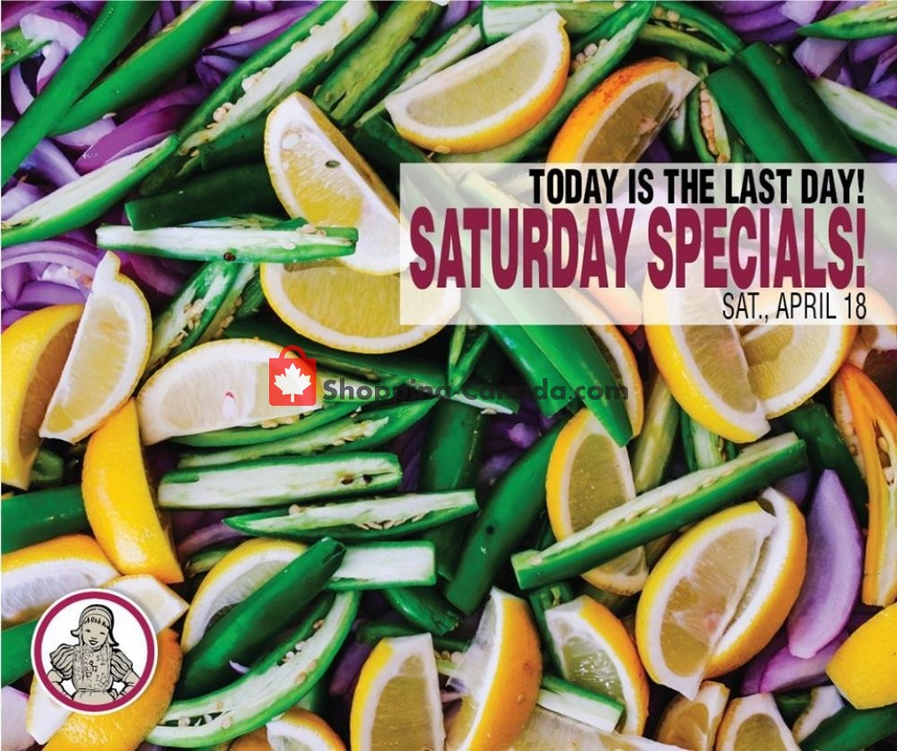 Flyer Dutchie's Fresh Market Canada - from Saturday April 18, 2020 to Saturday April 18, 2020