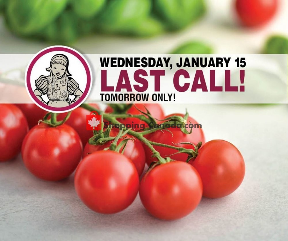 Flyer Dutchie's Fresh Market Canada - from Wednesday January 15, 2020 to Wednesday January 15, 2020
