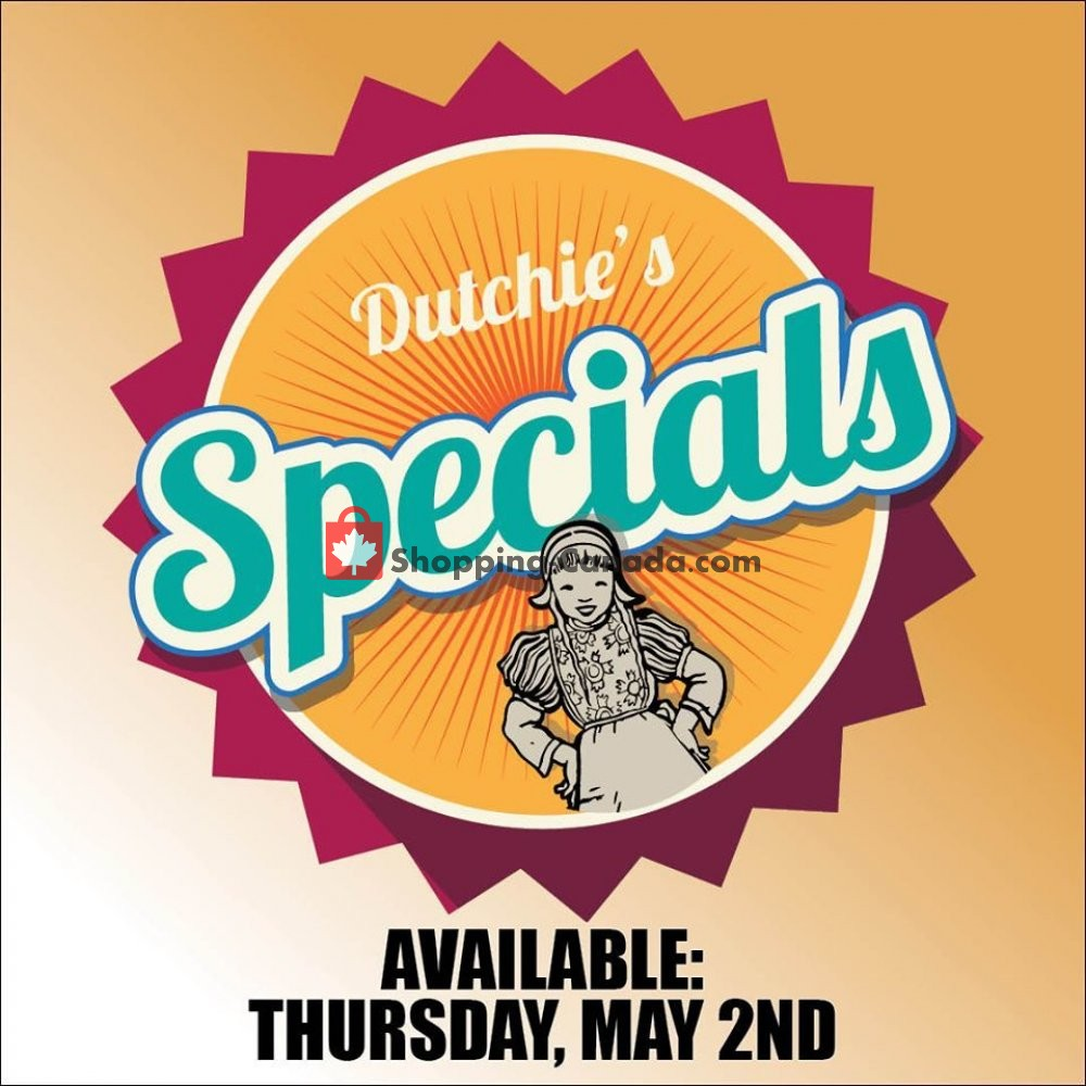 Flyer Dutchie's Fresh Market Canada - from Thursday May 2, 2019 to Thursday May 2, 2019