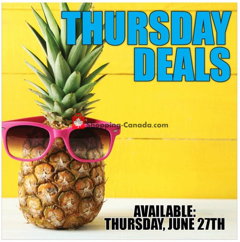 Flyer Dutchie's Fresh Market Canada - from Thursday June 27, 2019 to Thursday June 27, 2019