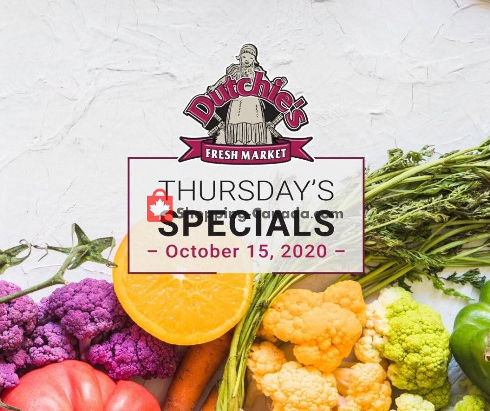 Flyer Dutchie's Fresh Market Canada - from Thursday October 15, 2020 to Thursday October 15, 2020
