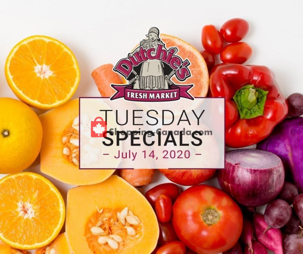 Flyer Dutchie's Fresh Market Canada - from Tuesday July 14, 2020 to Tuesday July 14, 2020