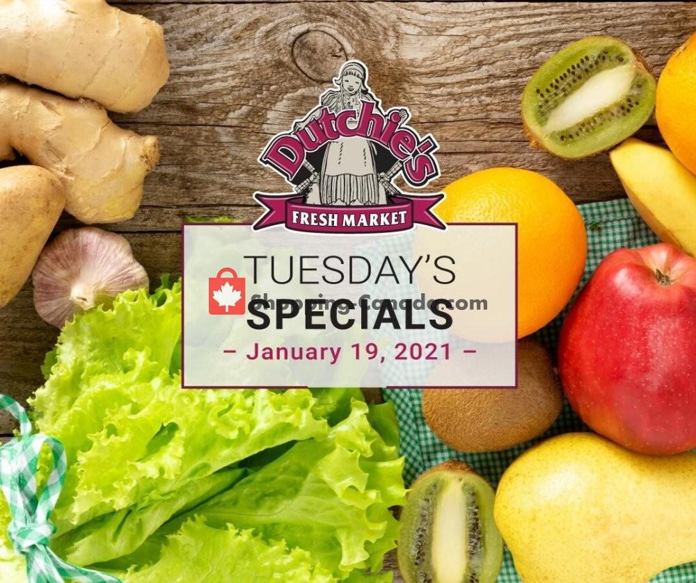 Flyer Dutchie's Fresh Market Canada - from Tuesday January 19, 2021 to Tuesday January 19, 2021