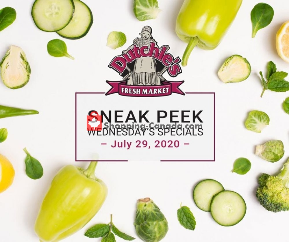 Flyer Dutchie's Fresh Market Canada - from Wednesday July 29, 2020 to Wednesday July 29, 2020