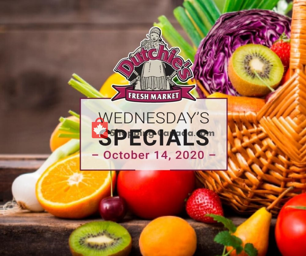 Flyer Dutchie's Fresh Market Canada - from Wednesday October 14, 2020 to Wednesday October 14, 2020