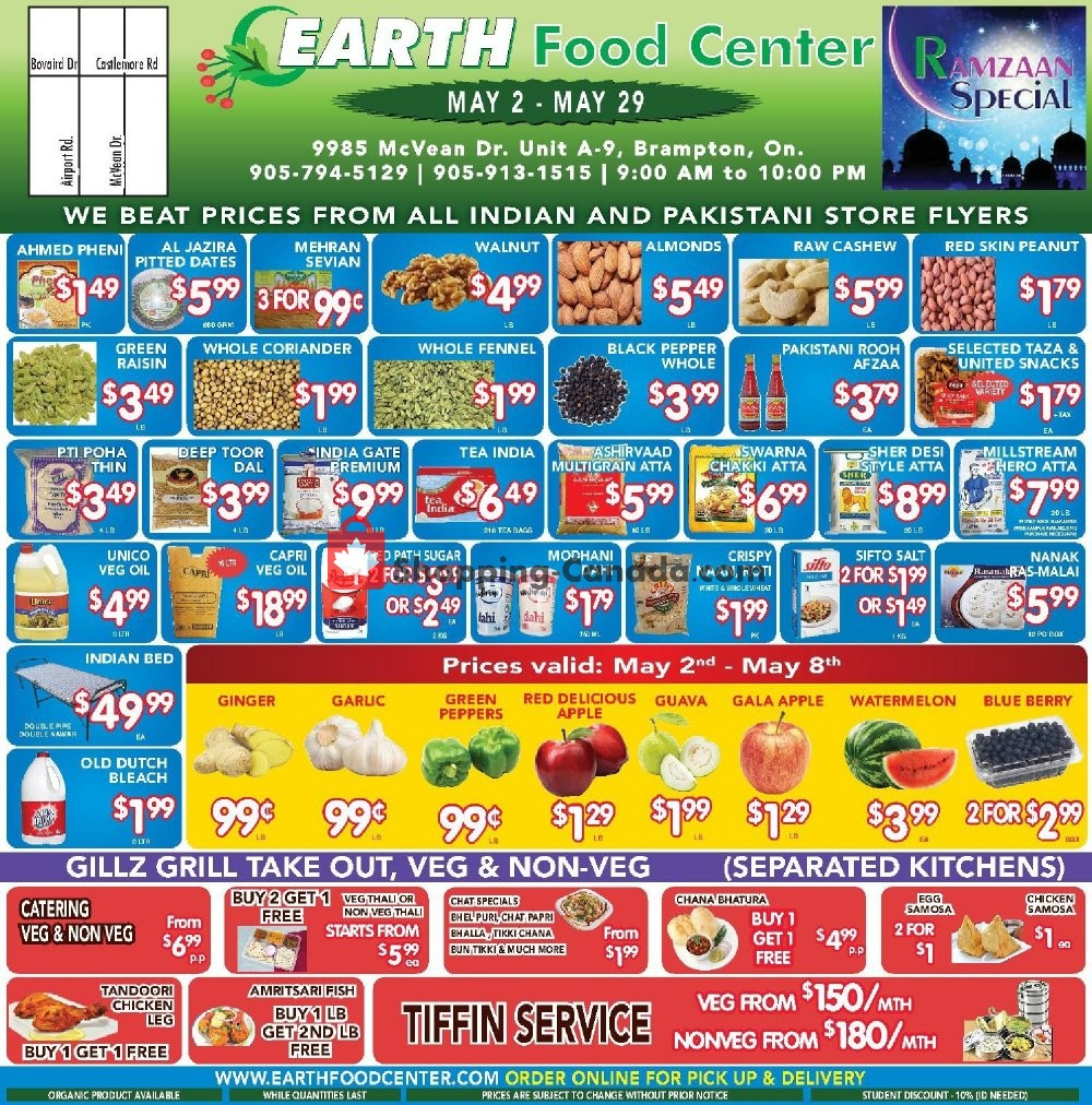 Flyer Earth Food Center Canada - from Thursday May 2, 2019 to Wednesday May 29, 2019