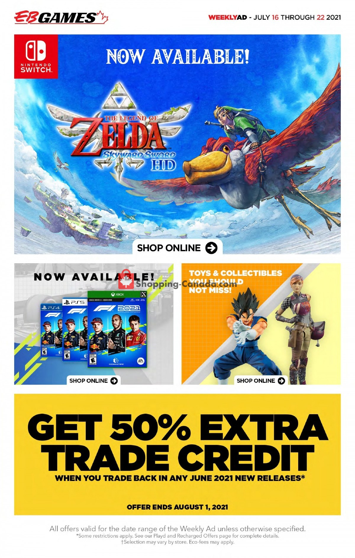 Flyer EB Games Canada - from Friday July 16, 2021 to Thursday July 22, 2021