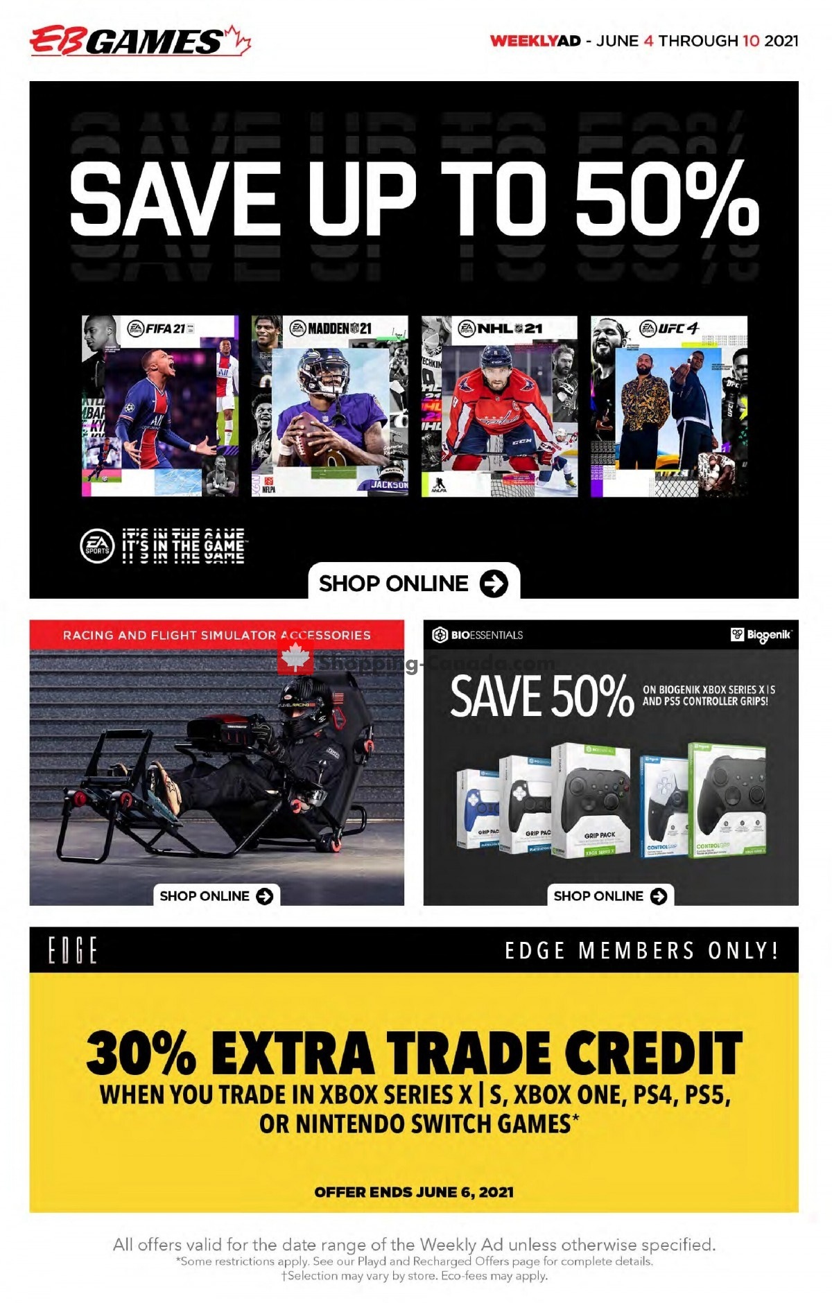 Flyer EB Games Canada - from Friday June 4, 2021 to Thursday June 10, 2021