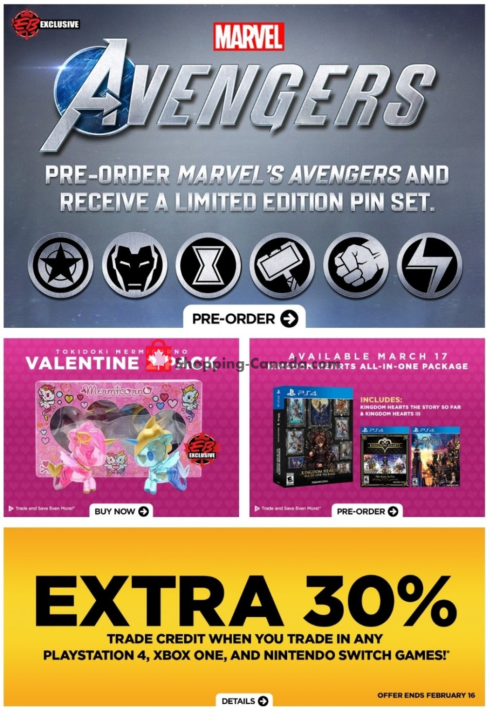Flyer EB Games Canada - from Friday February 14, 2020 to Thursday February 20, 2020
