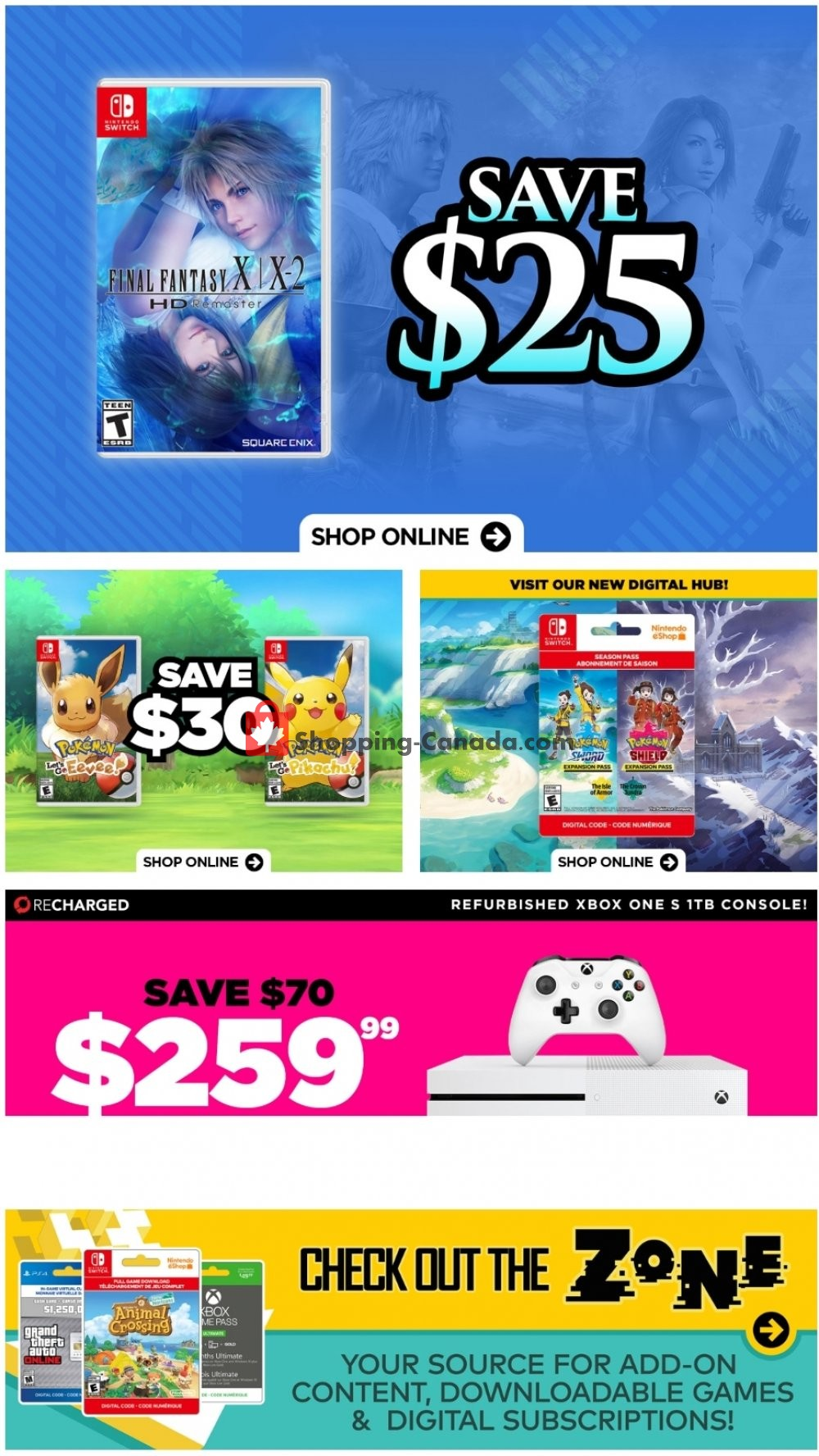 Flyer EB Games Canada - from Friday April 17, 2020 to Thursday April 23, 2020