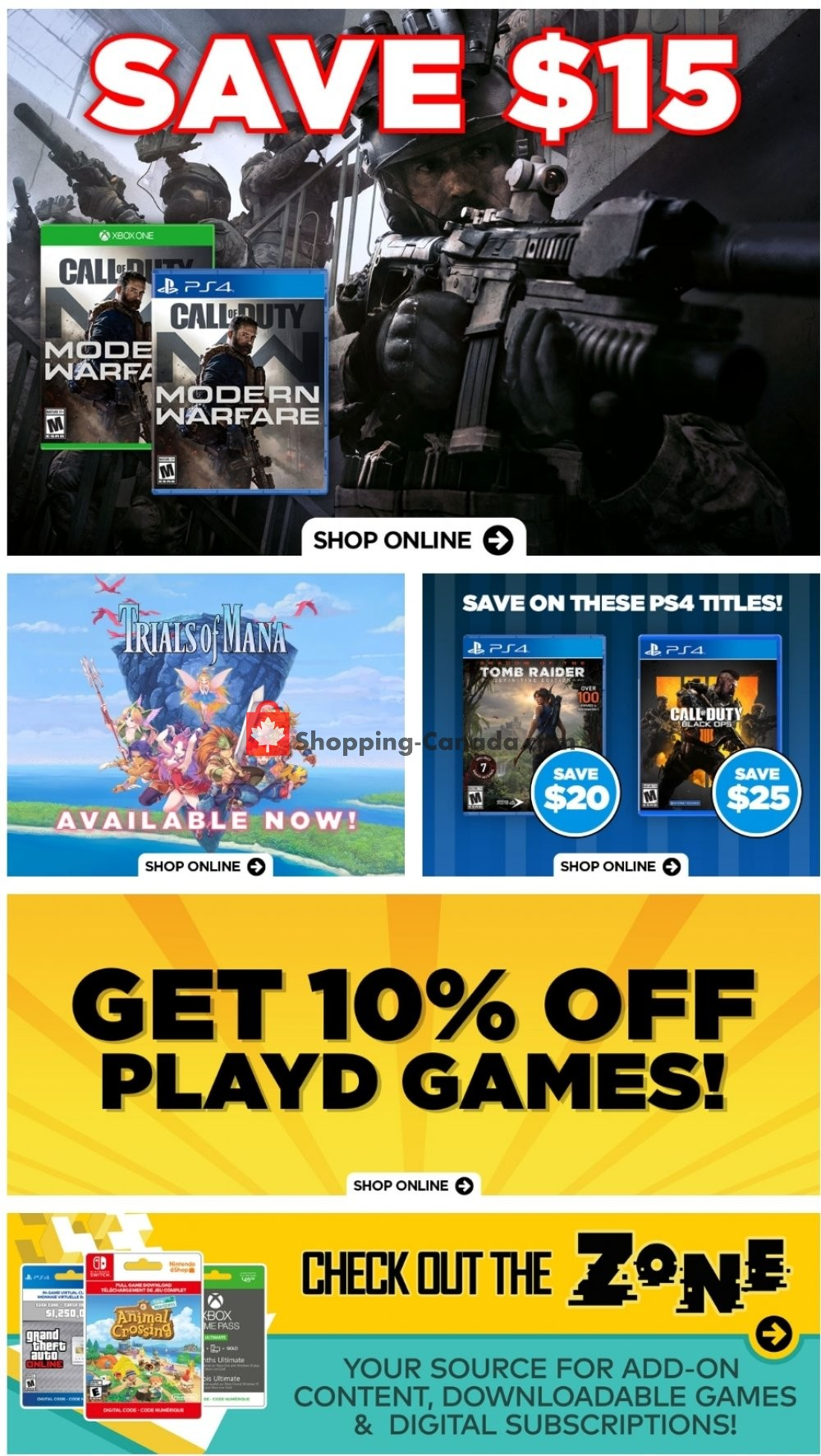 Flyer EB Games Canada - from Friday April 24, 2020 to Thursday April 30, 2020