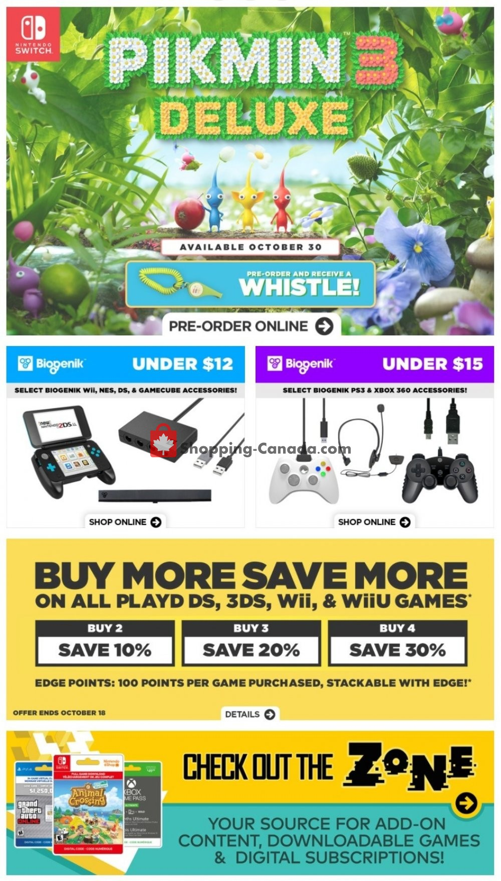 Flyer EB Games Canada - from Friday October 16, 2020 to Thursday October 22, 2020