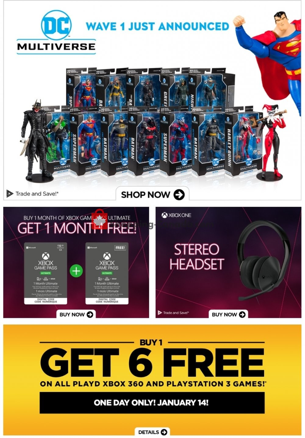 Flyer EB Games Canada - from Friday January 10, 2020 to Thursday January 16, 2020