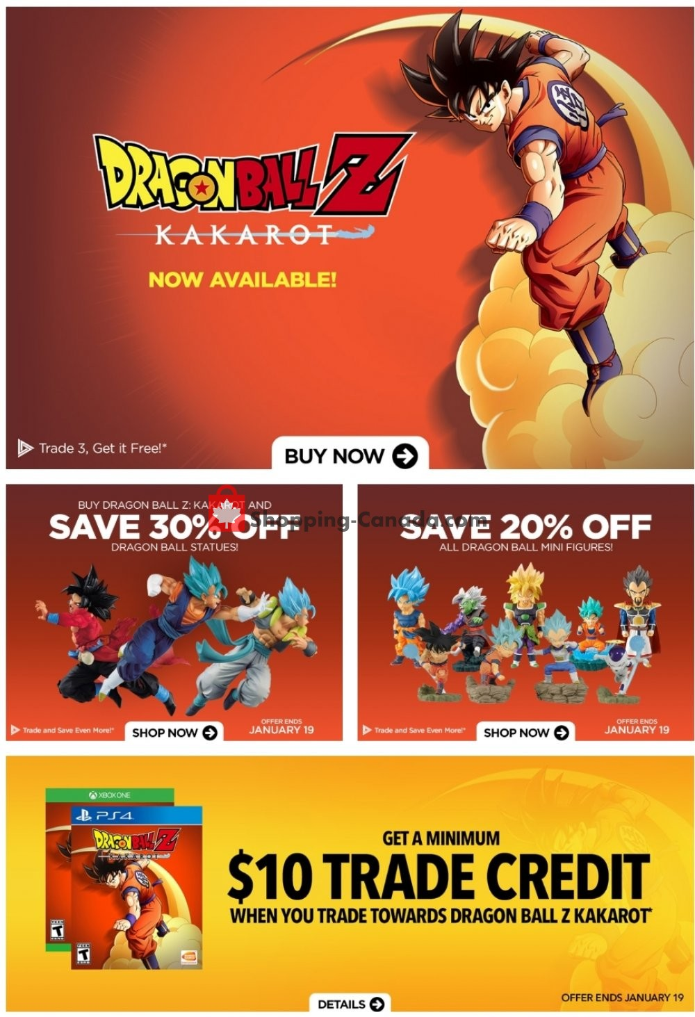 Flyer EB Games Canada - from Friday January 17, 2020 to Thursday January 23, 2020