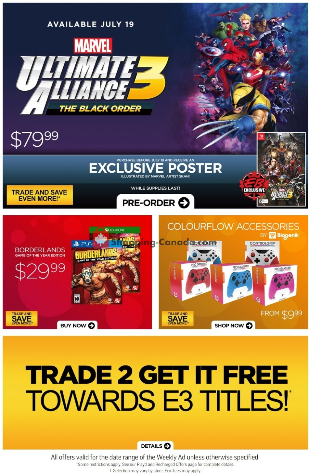 Flyer EB Games Canada - from Friday June 14, 2019 to Thursday June 20, 2019