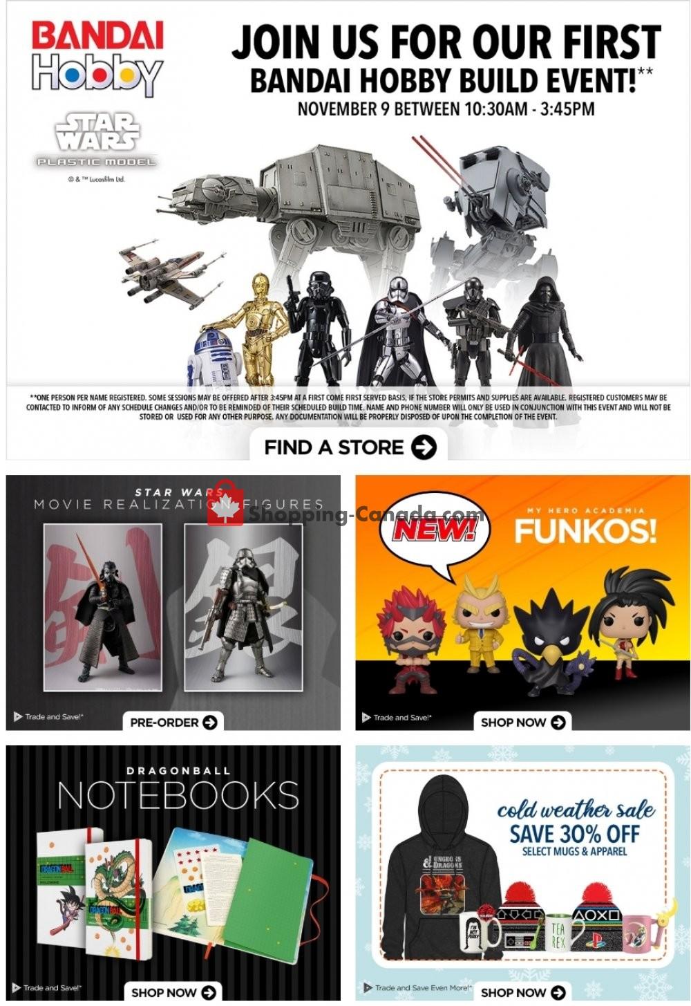 Flyer EB Games Canada - from Friday November 8, 2019 to Thursday November 14, 2019