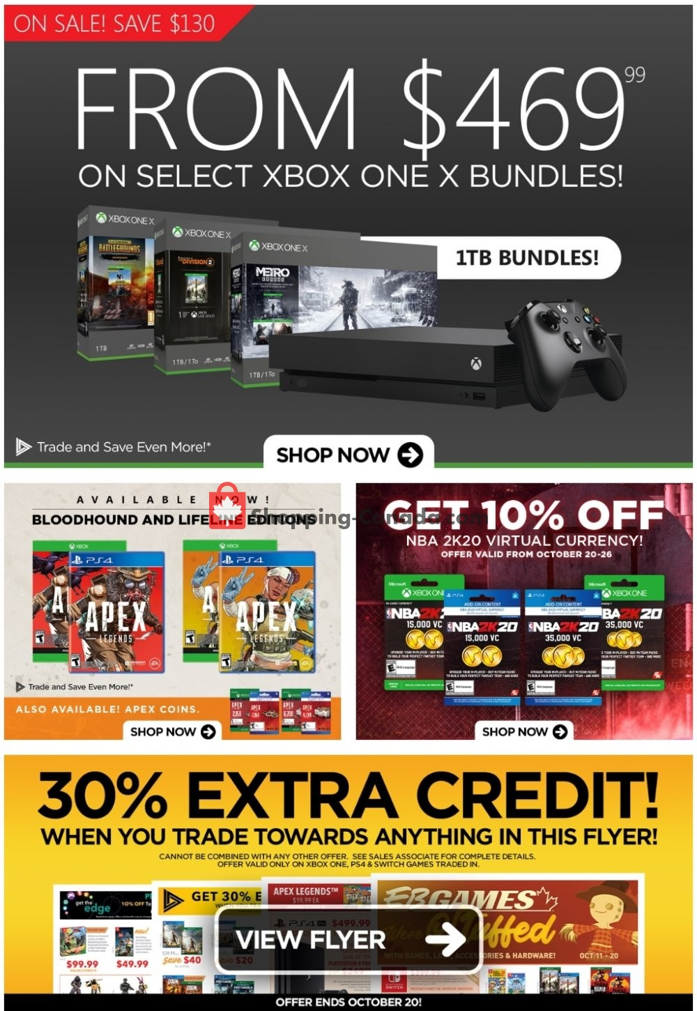 Flyer EB Games Canada - from Friday October 18, 2019 to Thursday October 24, 2019