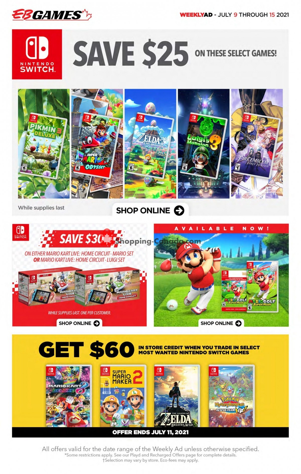 Flyer EB Games Canada - from Friday July 9, 2021 to Thursday July 15, 2021