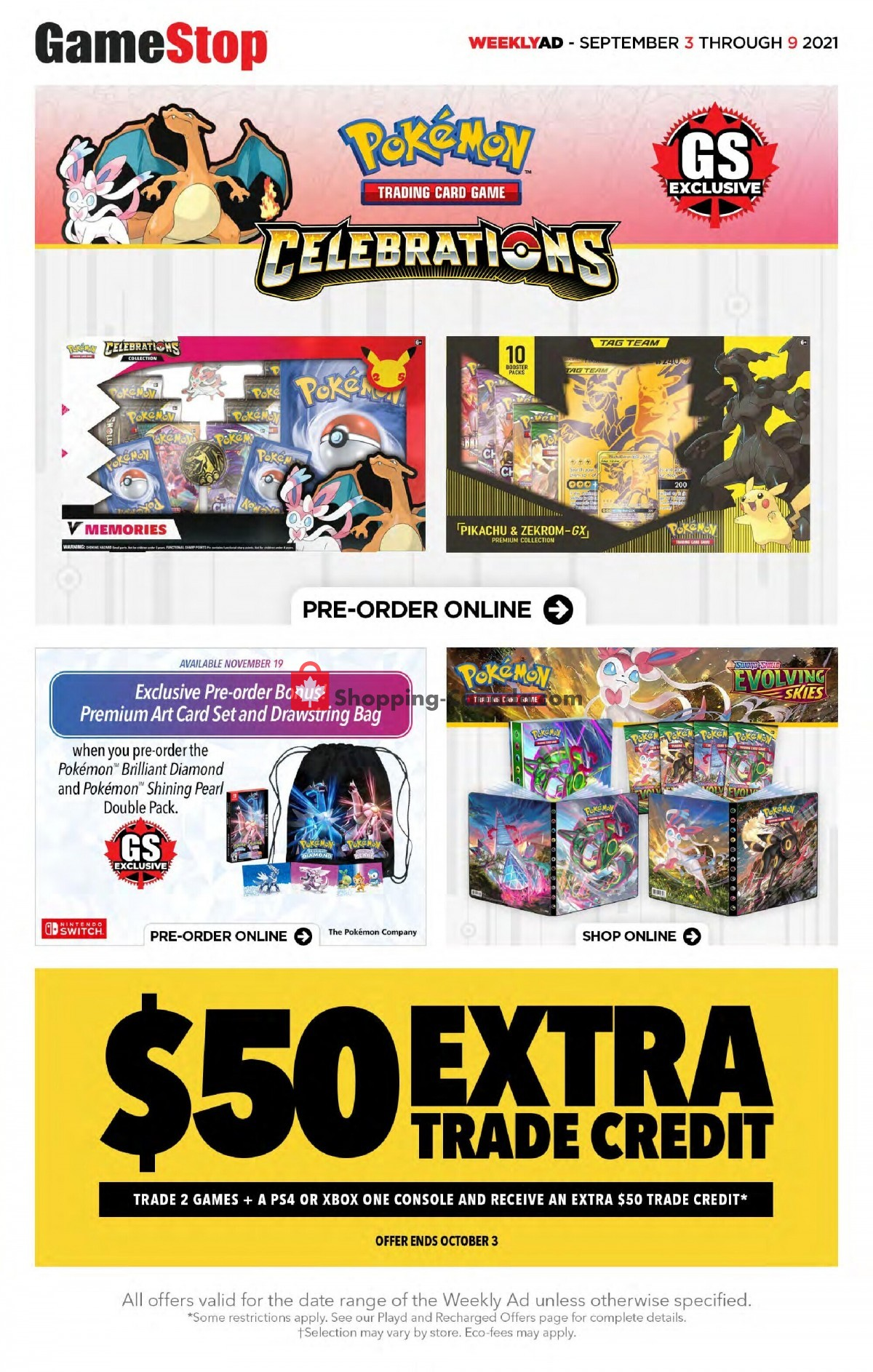 Flyer EB Games Canada - from Friday September 3, 2021 to Thursday September 9, 2021