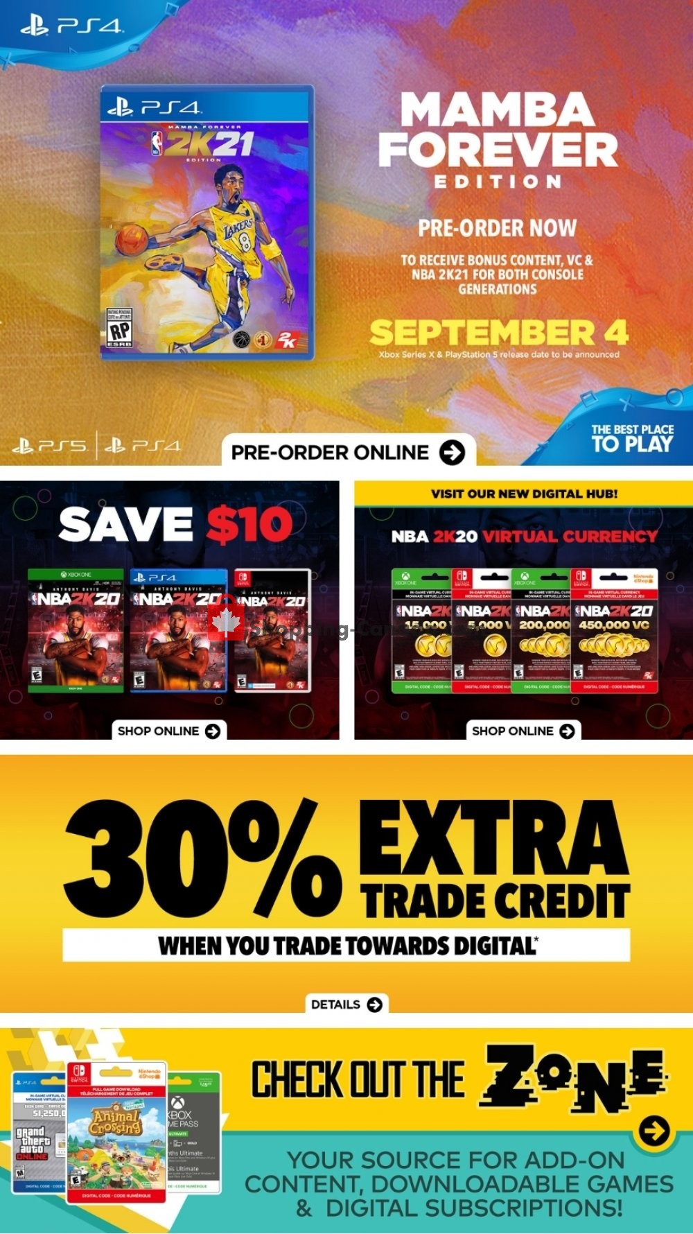 Flyer EB Games Canada - from Friday July 3, 2020 to Thursday July 9, 2020