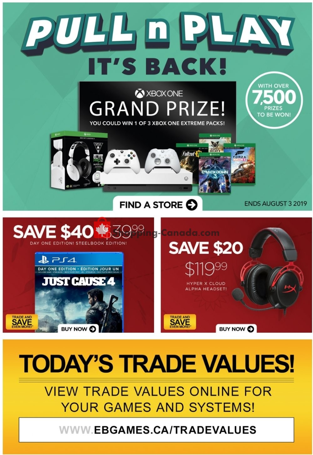 Flyer EB Games Canada - from Friday July 12, 2019 to Thursday July 18, 2019