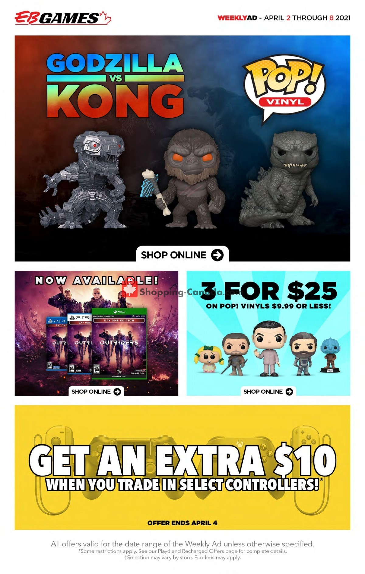 Flyer EB Games Canada - from Friday April 2, 2021 to Thursday April 8, 2021