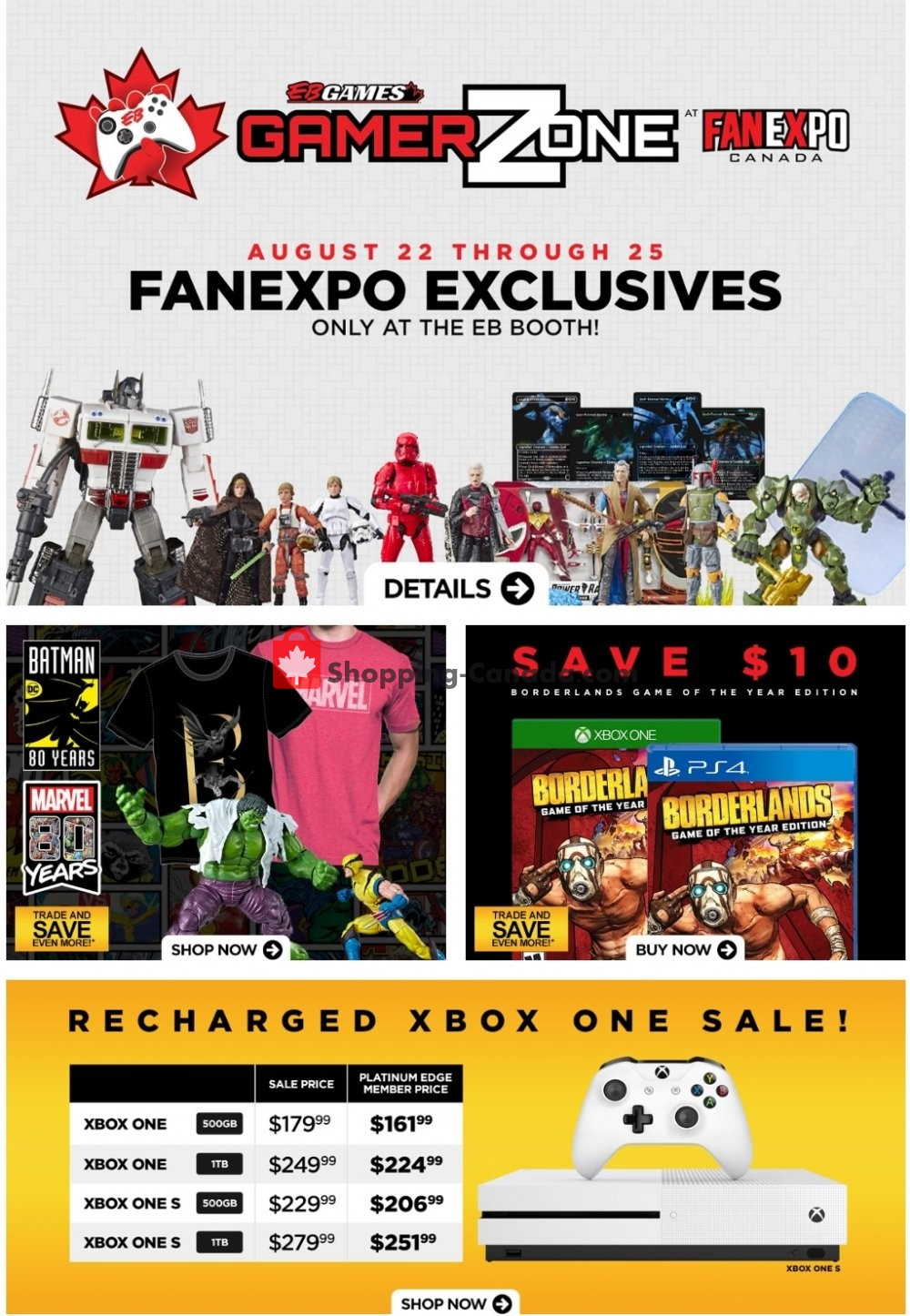 Flyer EB Games Canada - from Friday August 23, 2019 to Thursday August 29, 2019