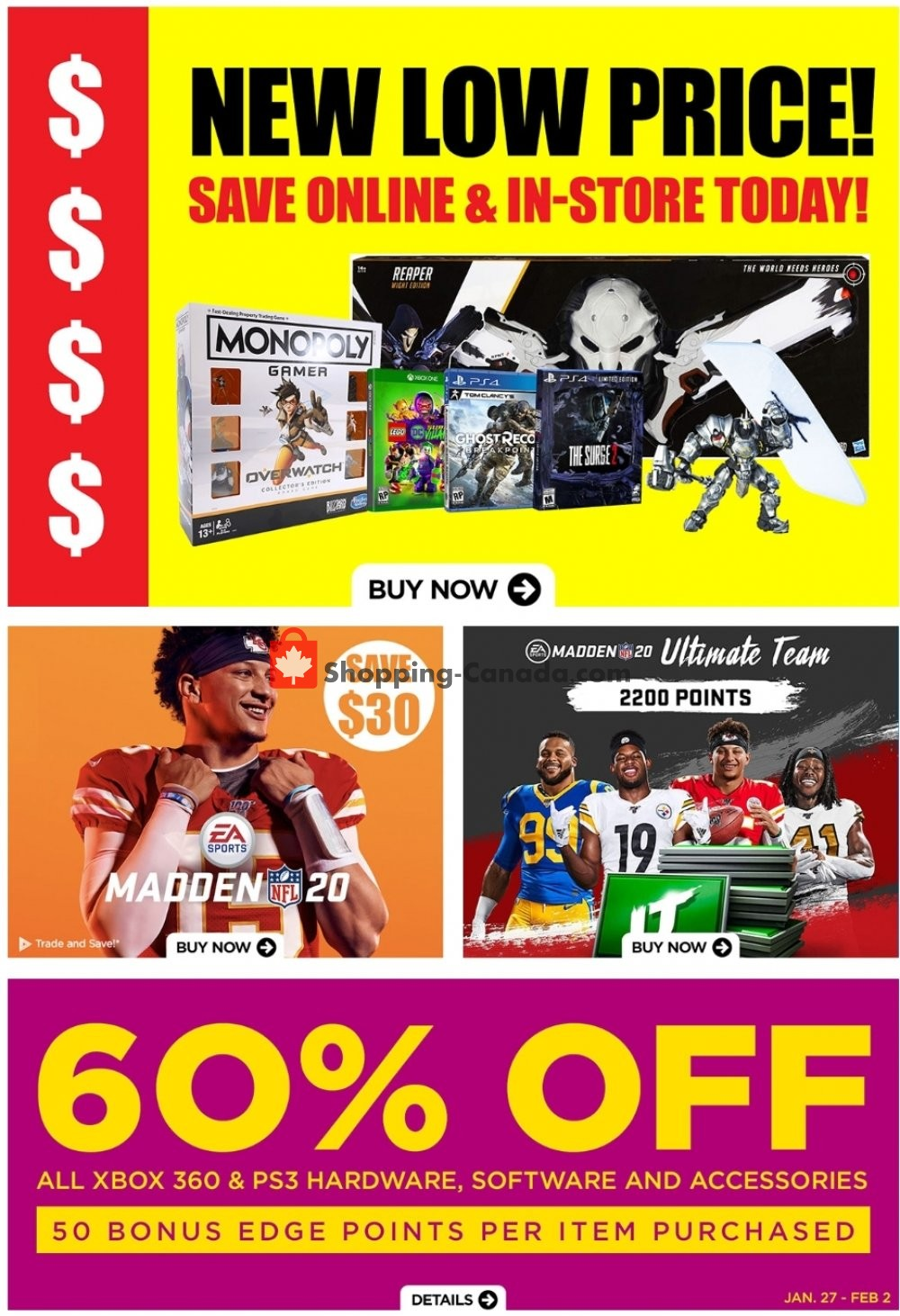 Flyer EB Games Canada - from Friday January 31, 2020 to Thursday February 6, 2020