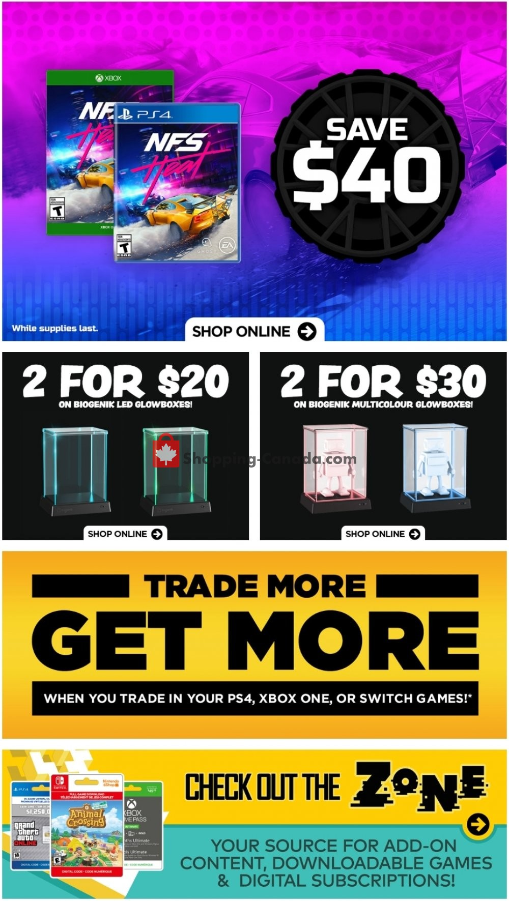 Flyer EB Games Canada - from Friday July 10, 2020 to Thursday July 16, 2020