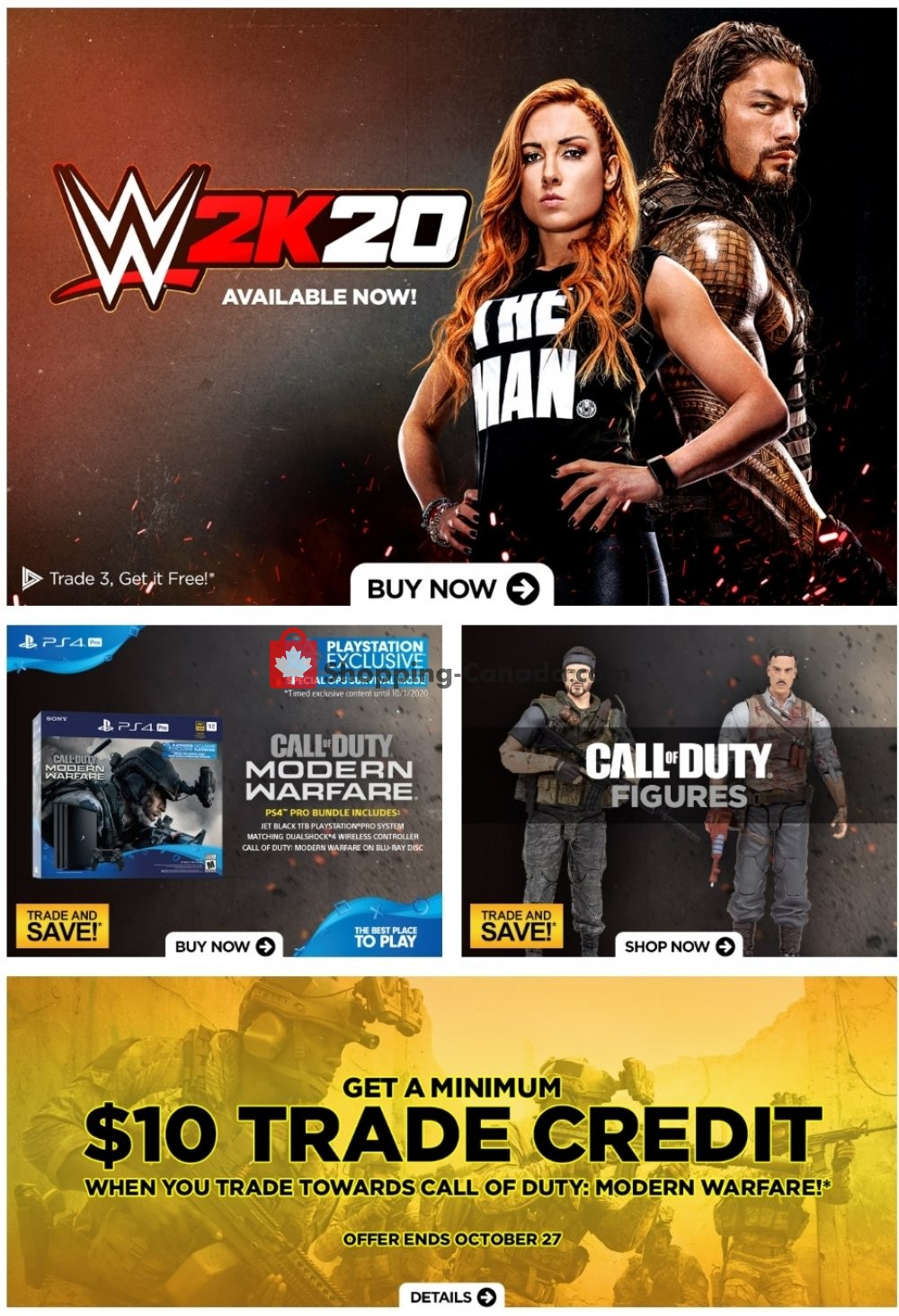 Flyer EB Games Canada - from Friday October 25, 2019 to Thursday October 31, 2019