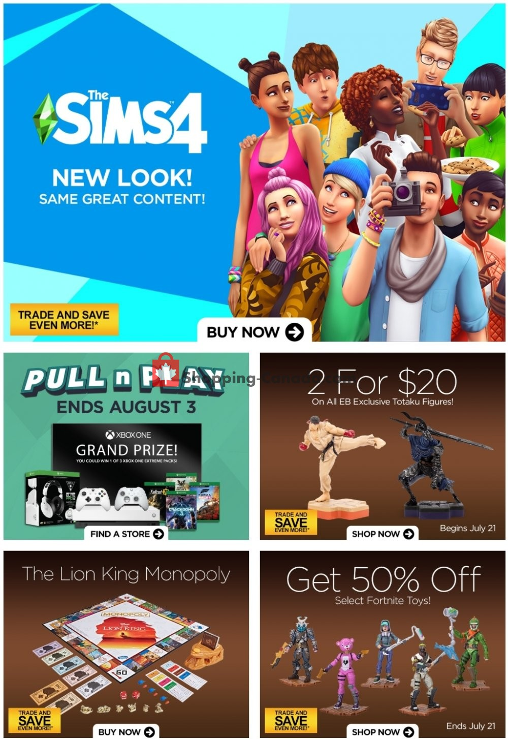 Flyer EB Games Canada - from Friday July 19, 2019 to Thursday July 25, 2019